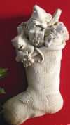 Stocking Mice Wall Hanging Sculpture
