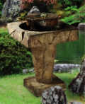 Stone Edge Bubbler Fountain with Light