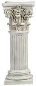 Corinthian Pillar Tall For Statue Display