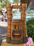 Tiki Gods of Fire and Water Fountain Sculpture