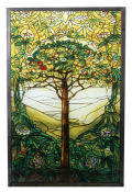 Tree of Life Replica by Louis Comfort Tiffany Wall Hanging Art Glass