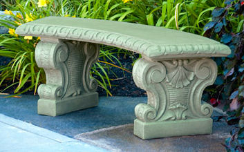 Garden Cement Benches Sculptural Seating for Sale at Statuecom