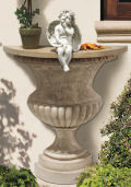 Garden of Versailles Wall Mounting Urn Console Table