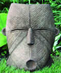 African Weaved Face Sculpture