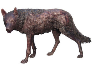 Wolf Walking Life-size Bronze Sculpture