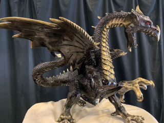 Bronze Dragon Sculpture Smoke 23