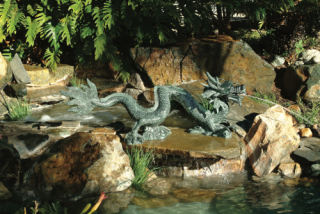 Classical Brass Asian Dragon Water Feature