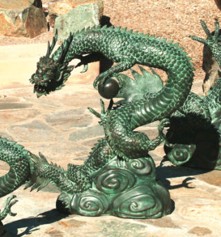 Asian Water Dragon Water Feature Statue