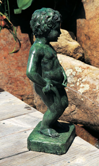 Belgium Boy Of Brussels Statue Piped for Water Feature