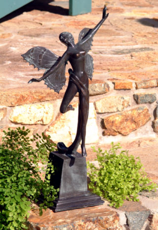 Butterfly Fairy Bronze Sculpture