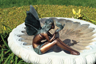 Bird Fairy Statue Bronze 11