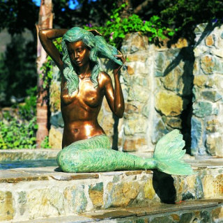 Mermaid Piped Water Feature Statue