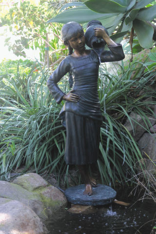 Becky Pond Statue Bronze Water Feature 47