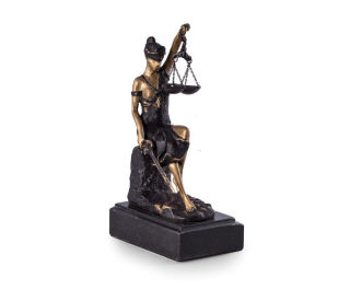 Lady Justice Statue Seated Bronze Decorative