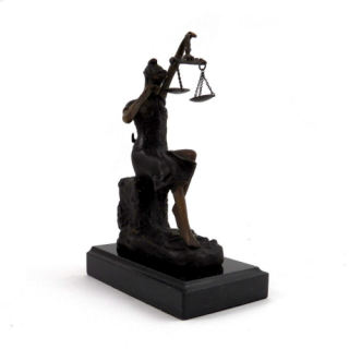 Crying Justice Lady Justice Sculpture