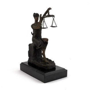 Victorious Lady Justice Sculpture
