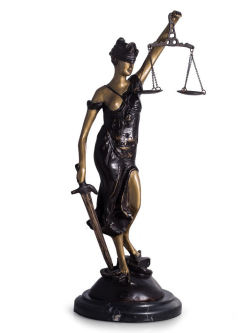 Blind Justice Bronze Lady Statue 16.5