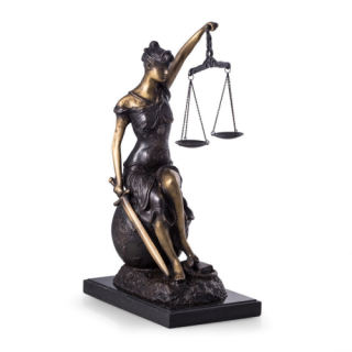 Lady Justice Statue On Marble Limited Edition Large