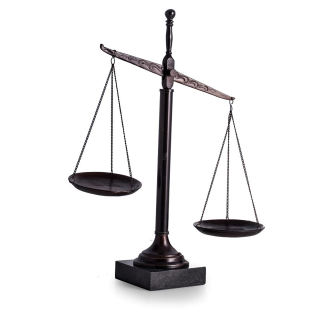 The Justice Scales Metal Sculpture