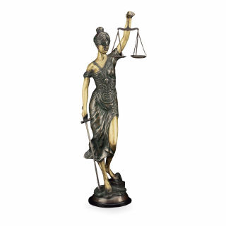 Blind Justice Bronze Lady Justice Statue 39