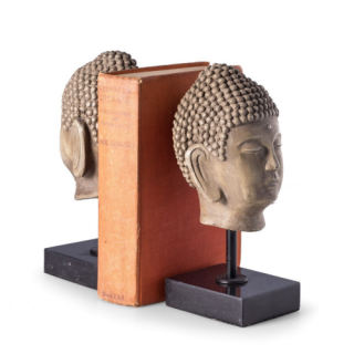 Buddha Head Bookend Set