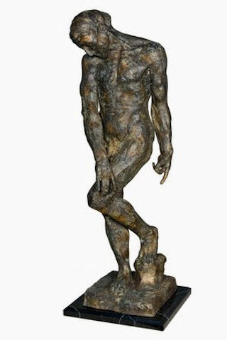Adam Bronze Nude Male Statue by Rodin