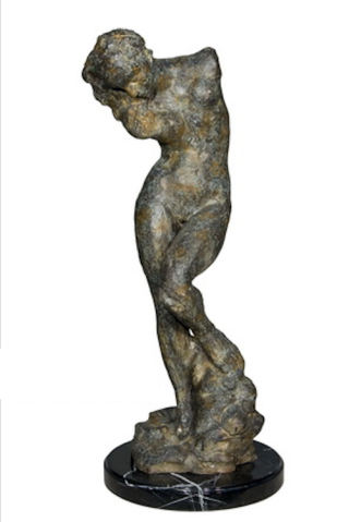 Rodin Female Nude Torso Abstract Statue