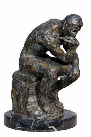 The Thinker by Rodin Bronze 16.5