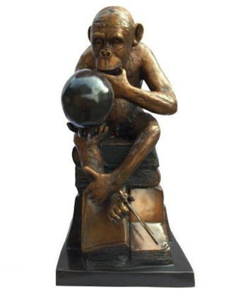 Darwins Ape Sculpture Monkey Bronze Statue