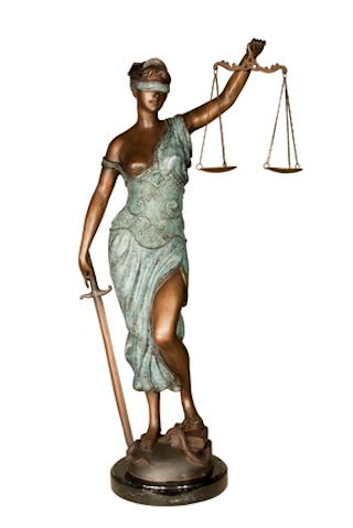 Blind Lady Justice Bronze Sculpture 35