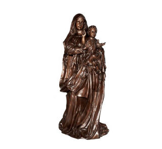 Blessed Mother Mary & Child Bronze Statue