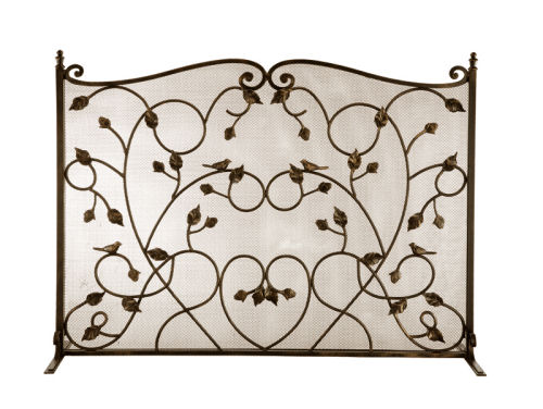 Decorative Bird Fireplace Screen