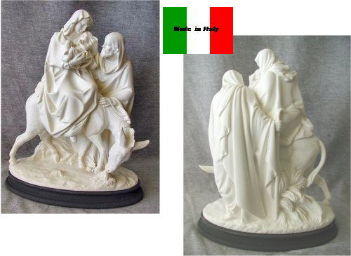 Flight Into Egypt Sculpture Holy Family