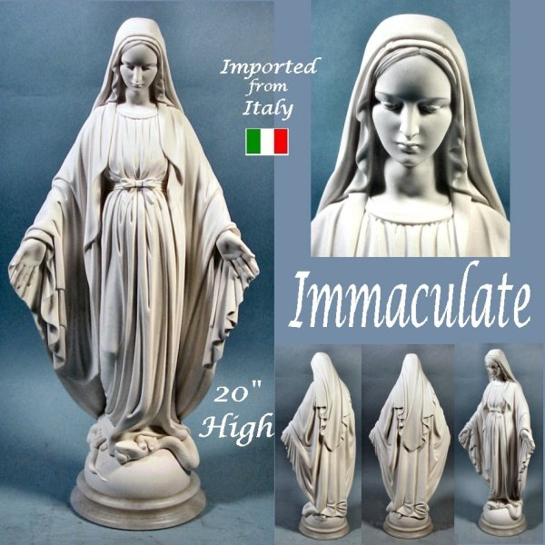 Immaculate Heart Of Mary Statue Marble