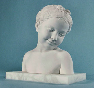 Smiling Girl Bust Sculpture 9