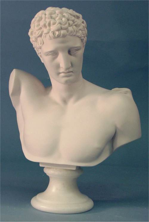 Hermes Greek Bust Marble Sculpture