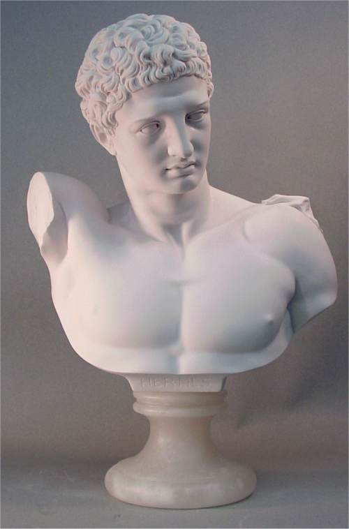 Hermes Bust Large Marble Statue