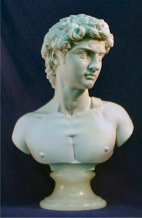 David Bust By Michelangelo Statue Sculpture marble Replica