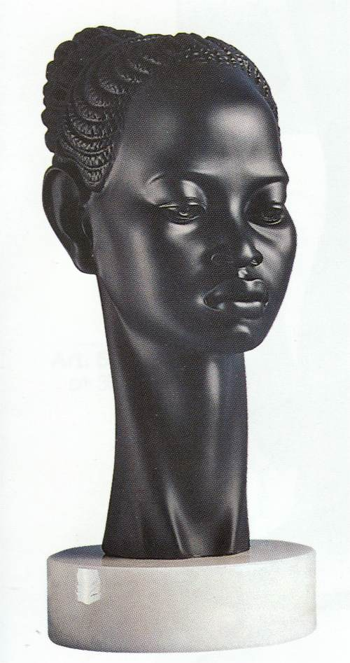 African Princess Bust Regal fine art Sculpture
