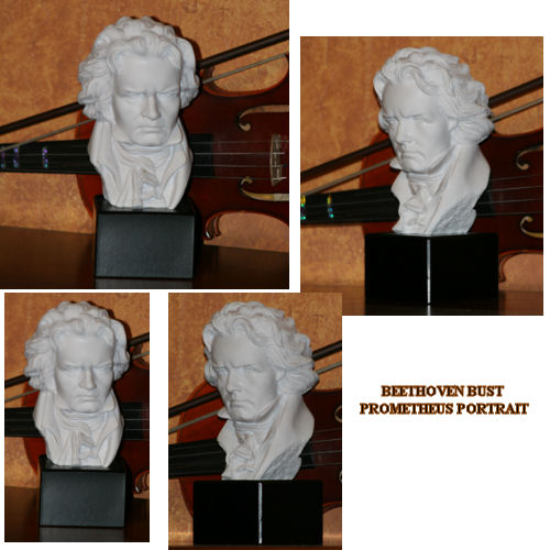 Beethoven Bust Prometheus Portrait Marble Sculpture