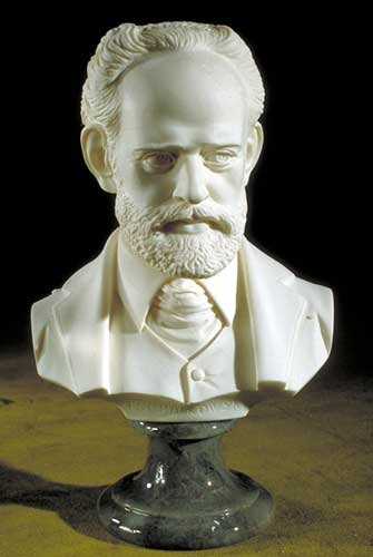 Tchaikovsky Bust Composer Sculptural Artwork