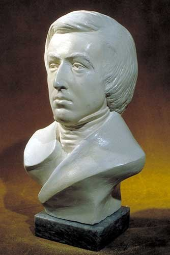 "Statue of Chopin Frederic Bust 12"" High"