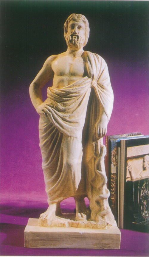 Asclepios Greek God Of Medicine Statue