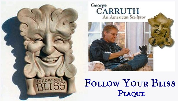 Follow Your Bliss Wall Plaque Greenman by Carruth