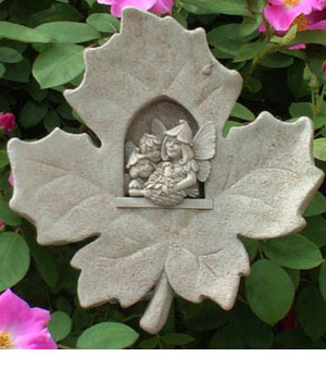 Leaf Fairies Wall Plaque Sculpture by Famed George Carruth
