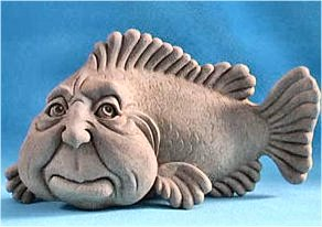 Sid the Fish Sculpture By George Carruth Wall Hanging Plaque
