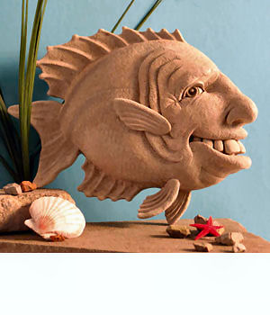 Gill Fish Wall Plaque Sculpture