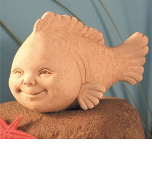 Opie The Fish Plaque Or Free Standing Wall Sculpture