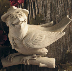 Earl E. Bird Wall Plaque Sculpture by Sculptor Carruth