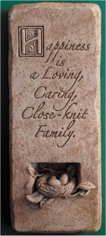 A Blissful Home Wall Plaque Decorative Stone